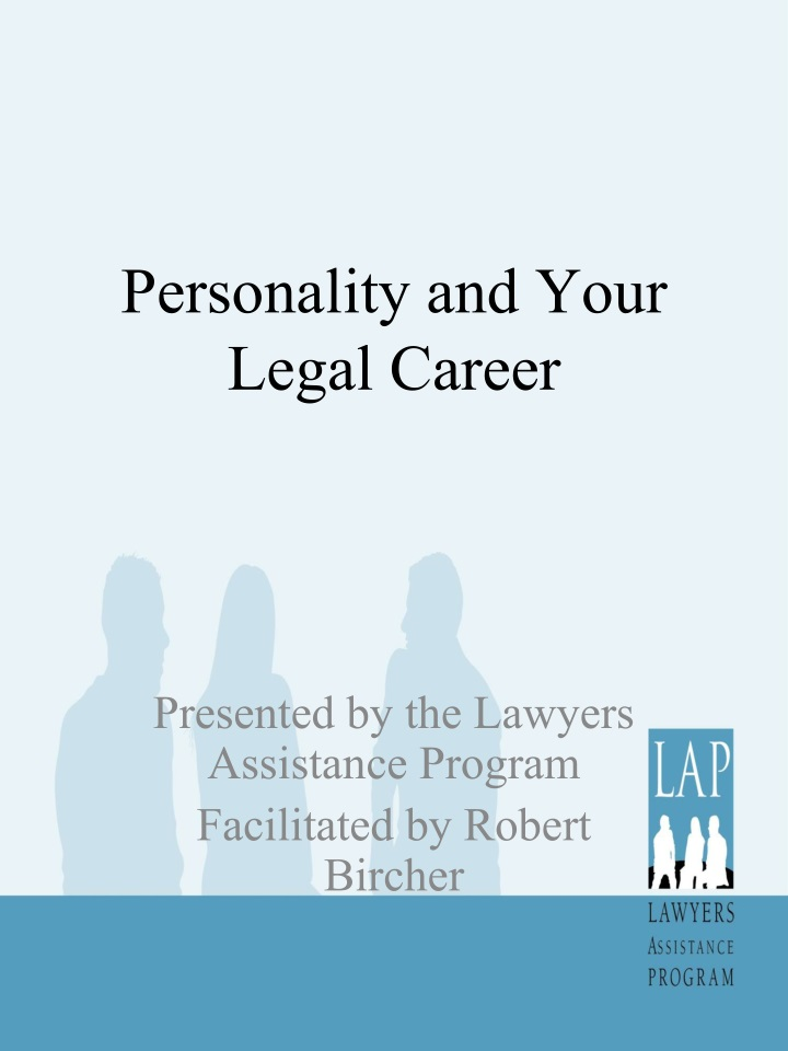 Personality and your legal career