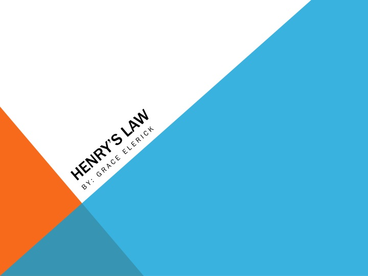 henry s law n.