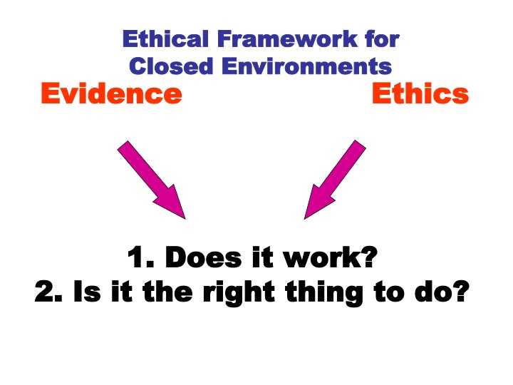 Ethical Framework for Closed Environments