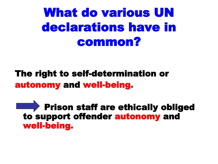 What do various UN declarations have in common?