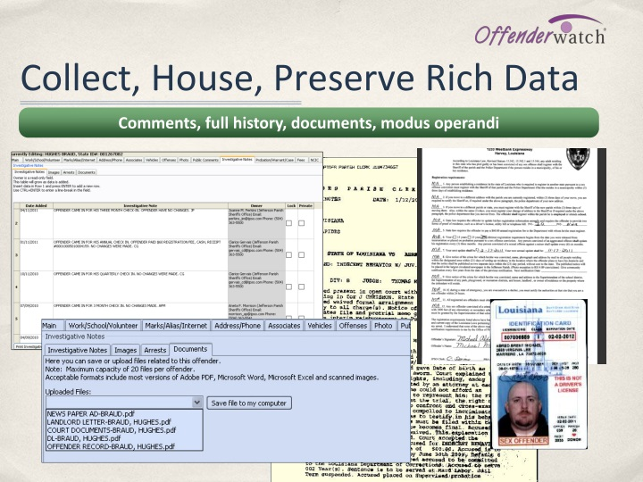 Collect, House, Preserve Rich Data
