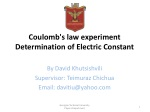 coulomb s law experiment determination of electric constant