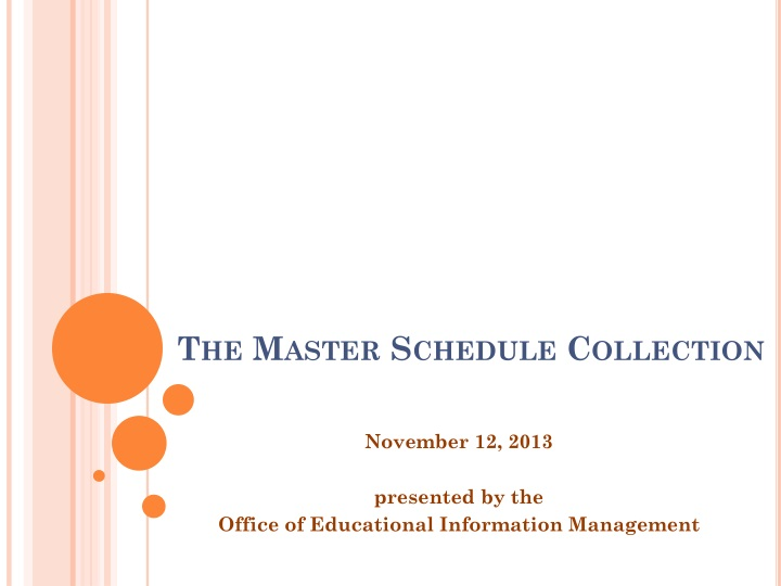 the master schedule collection n.