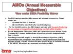 amos annual measurable objectives new under esea flexibility waiver