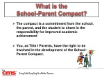 what is the school parent compact