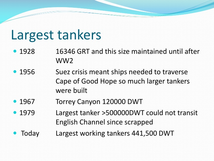 Largest tankers