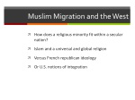 muslim migration and the west