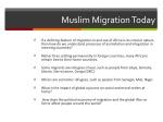 muslim migration today