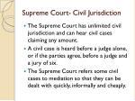 supreme court civil jurisdiction