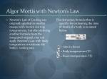 algor mortis with newton s law