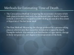 methods for estimating time of death