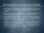 the factors in estimating time of death