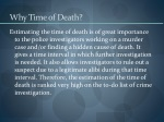 why time of death