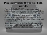 plug in hybrids the best of both worlds