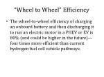 wheel to wheel efficiency