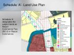 schedule a land use plan