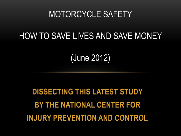 Dissecting this latest study by the national center for injury prevention and control