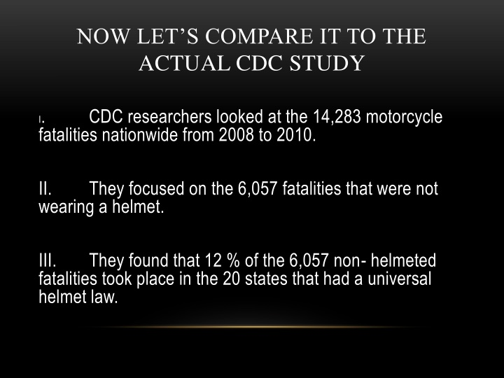 Now let's compare it to the actual CDC