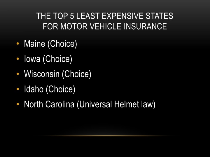 THE TOP 5 LEAST EXPENSIVE STATES