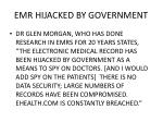 emr hijacked by government