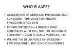 who is aaps