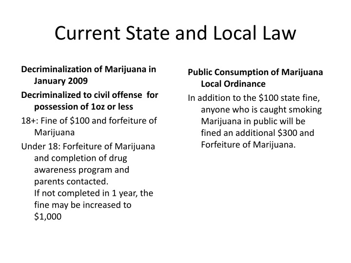 Current State and Local Law