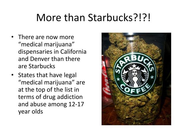 More than Starbucks?!?!