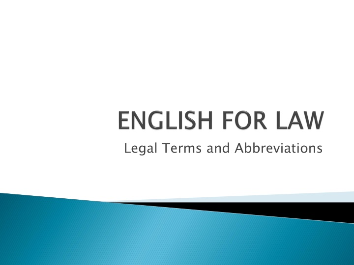 the importance of the english legal The role of substantive law and procedure in the mr moore sets out the importance of institutional habits as distinguished from legal principles.
