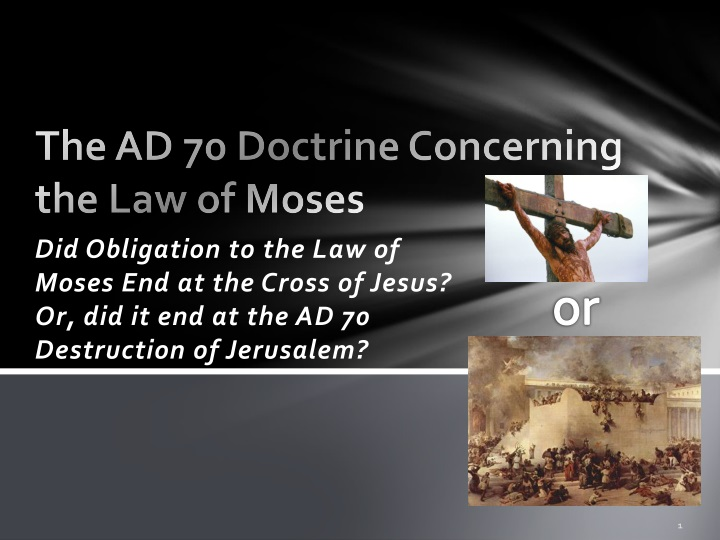 the ad 70 doctrine concerning the law of moses n.
