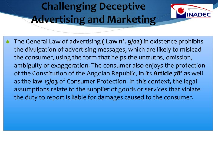 Challenging Deceptive Advertising and Marketing