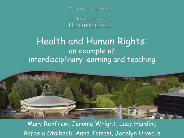 health and human rights an example of interdisciplinary learning and teaching n.