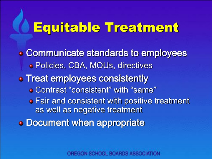 Equitable treatment