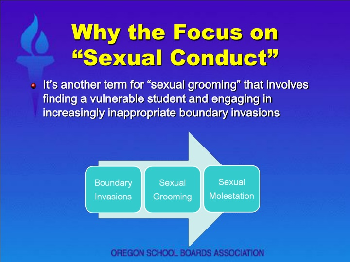 "Why the Focus on ""Sexual Conduct"""