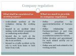 company regulation