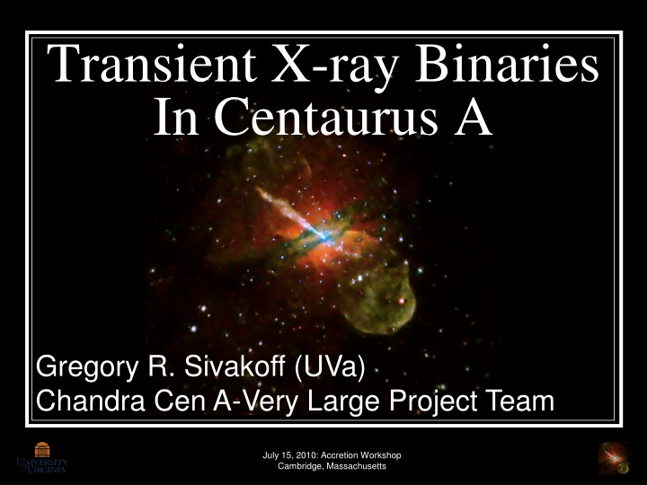 Transient x ray binaries in centaurus a