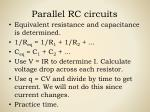 parallel rc circuits