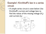 example1 kirchhoff s law in a series circuit