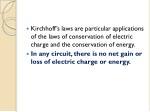 kirchhoff s laws are particular applications