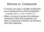 mixtures vs compounds