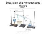 separation of a homogeneous mixture