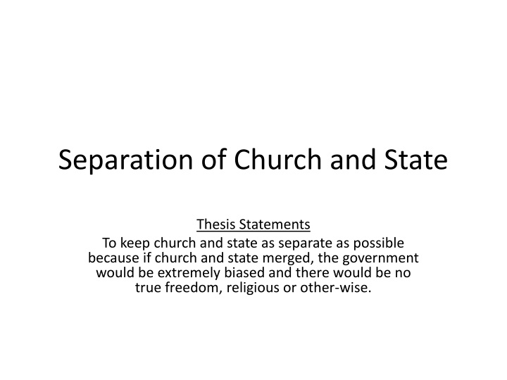 should church and state be separate Essays research papers - should church and state be separate.