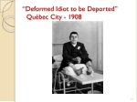 deformed idiot to be deported qu bec city 1908