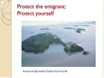 protect the emigrant protect yourself