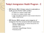 today s immigration health program 2