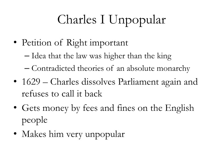 "parliament between 1603 1629 essay The relationship between the parliament and charles ii was due to the king's appointment of a council of five men who served both as his major advisers and as members of parliament, thus acting as liaison agents between the executive and the legislature (body known as the ""cabal"" and was the ancestor of the cabinet system."