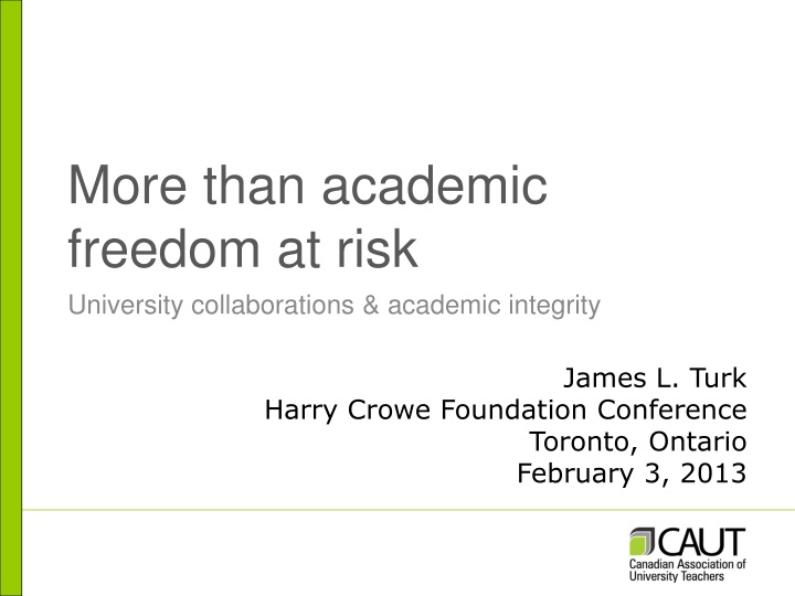 more than academic freedom at risk n.