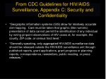 from cdc guidelines for hiv aids surveillance appendix c security and confidentiality