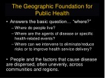 the geographic foundation for public health