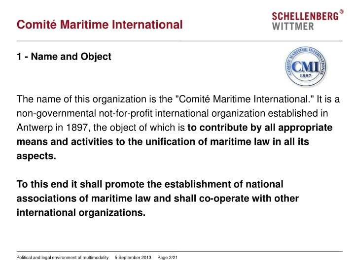 Comit maritime international