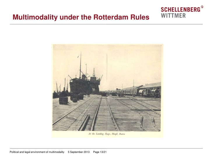 Multimodality under the Rotterdam Rules